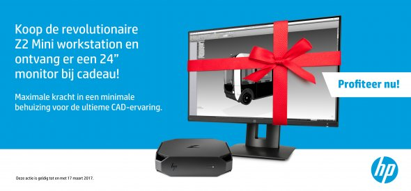 HP Z2 Mini  Workstation promo T/m 31 maart