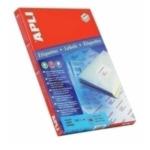 Apli 582414 Labels Round corners 63.5 x 38.1mm Wit 2100 stuksuk(s) etiket 8410782106272