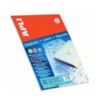 Apli 581214 Etiketten formaat 105 x 37 mm (b x h), rechte hoeken, 400 stuks, 16 per blad (1214) 8410782012146