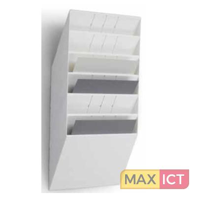 Durable flexiboxx 6 a4 landscape wit 9785w for Plastic ladeblok