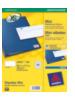 Avery White Mini Label - Inkjet - J8651 Wit