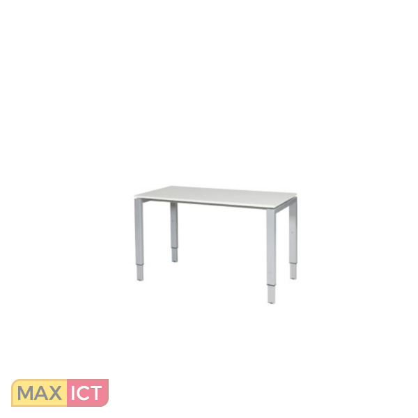 Maxoffice bureau 120x60 wit alu dob 126 wita max ict for Bureau 120x60