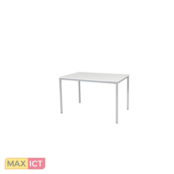 maxoffice tafel basic 120x80 wit alu dov b128 wita tafels. Black Bedroom Furniture Sets. Home Design Ideas
