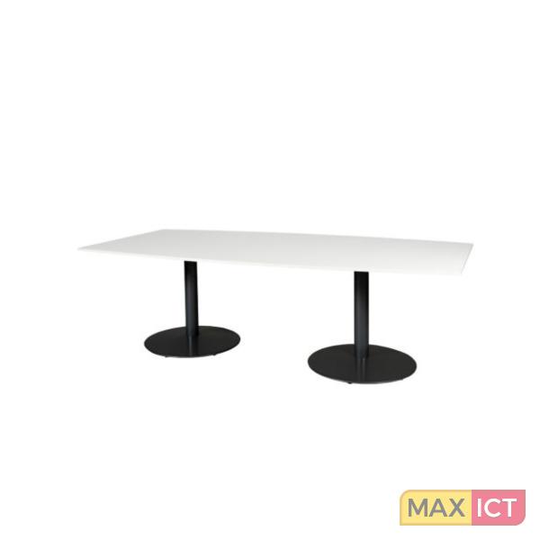 Maxoffice conferentietafel 240x120cm wit for Zwarte ladeblok