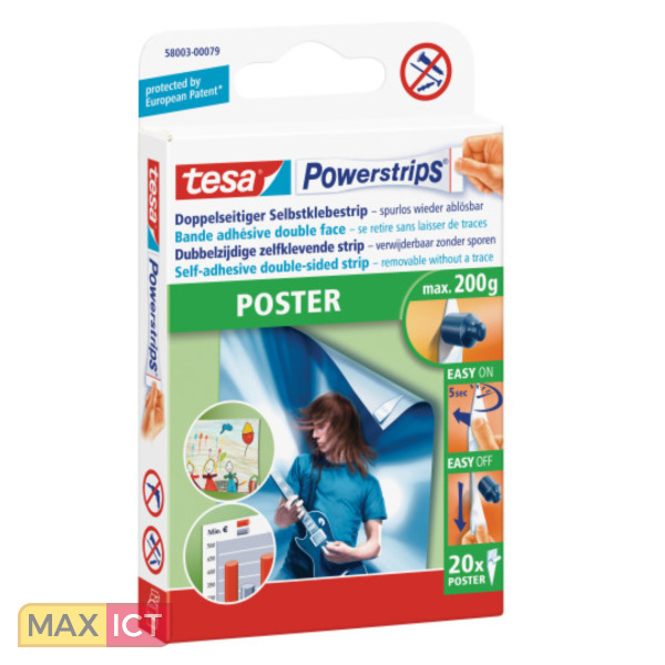 tesa powerstrips poster posterbuddies 58003 plakband. Black Bedroom Furniture Sets. Home Design Ideas