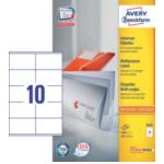Zweckform 3425 Avery Universele Etiketten, wit, 105,0 x 57,0 mm, permanent klevend 4004182034255