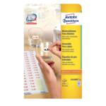 Avery L341025 L3410REV-25 Verwijderbaar Wit 2550 stuksuk(s) etiket 4004182634103
