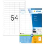 Herma 4607 Etiketten wit 48.3x16.9 Premium A4 12800 st 4008705046077