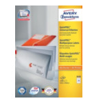 Zweckform 3658 Avery Universal Labels, White 64,6x33,8mm 2400 stuksuk(s) etiket 4004182036587