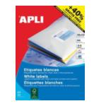 Apli 581212 Etiketten formaat 70 x 37 mm (b x h), rechte hoeken, 600 stuks, 24 per blad (1212) 8410782012122
