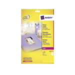 Avery L776740 Glanzende Etiketten, wit, 210,0 x 297,0 mm, permanent klevend 3266550017838