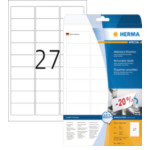 Herma 4347 Etiketten wit Movables/verwijd. 63.5x29.6 A4 675 st 4008705043472