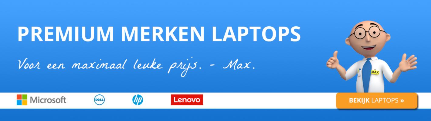 Premium merken laptops, maximaal leuke prijzen.