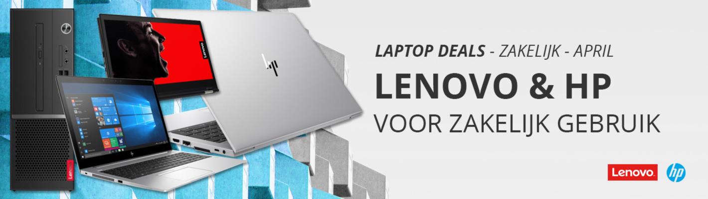 Laptops voor Zakelijk Gebruik - Lenovo & HP - Aanbiedingen April