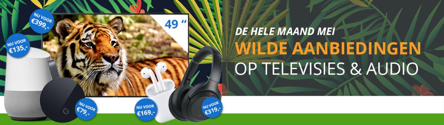 Wilde Aanbiedingen op Televisies & Audio bij Max ICT B.V.