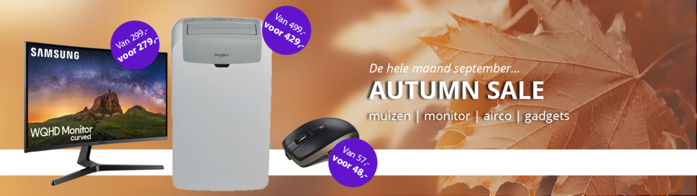 De hele maand september autumn sale