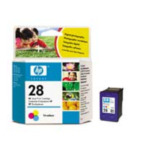 HP C8728A 28 Tri-color Inkjet Print Cartridge Cyaan, Magenta, Geel inktcartridge 808736152723
