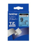 Brother TZ-521 Gloss Laminated Tape - 9mm, Black/Blue TZ labelprinter-tape 4977766052276