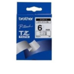 Brother TZ-211 Black on White Gloss Laminated Tape, 6mm labelprinter-tape TZ 4977766052375