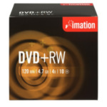 Imation I19008 DVD+RW 4x 4.7GB (10) 4,7 GB 10 stuk(s) 51122190087