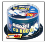 Maxell 628523 CD-R 80min 700MB spindle 50pk 50 stuk(s) 5705965607619