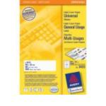 Zweckform 3423 Avery Universal Labels, White 105x35mm 1600 stuksuk(s) etiket 4004182034231