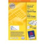 Zweckform 3422 Avery Universal Labels, White 70x35mm 2400 stuksuk(s) etiket 4004182034224