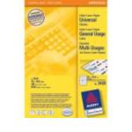 Zweckform 3420 Avery Universal Labels, White 70x16,9mm 5100 stuksuk(s) etiket 4004182034200