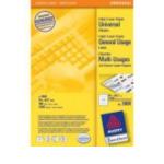 Zweckform 3661 Avery Universele Etiketten, wit, 70,0 x 67,7 mm, permanent klevend 4004182036617