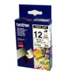Brother TZ-FA3 Fabric Labelling Tape - 12mm, Blue/White TZ labelprinter-tape 4977766054034