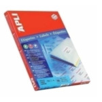Apli 581281 Labels 210 x 297mm Wit 100 stuksuk(s) etiket 8410782106418