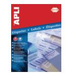 Apli 581223 Transparante etiketten formaat 48,5 x 25,4 mm (b x h), 880 stuks, 44 per blad, doos van 20 blad 8410782012238
