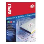Apli 581992 Etiketten formaat 63,5 x 38,1 mm (b x h), ronde hoeken, 525 stuks, 21 per blad (1992) 8410782019923