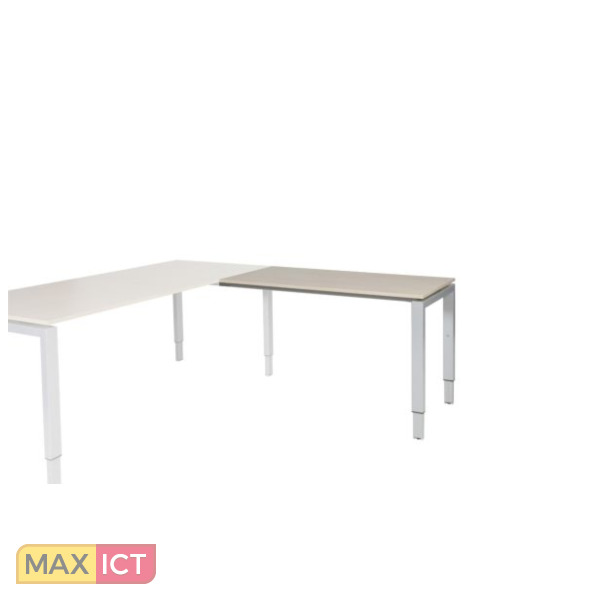 Maxoffice frontpaneel staal 180x40 alu t for Bureau 80x60
