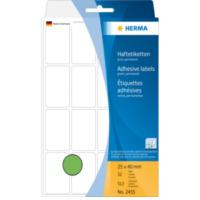 Herma Universele etiketten 25x40mm groen voor handmatige opschriften 512 St (2455)
