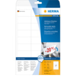 Herma 4347 Etiketten wit Movables/verwijd. 63.5x29.6 A4 675 st. 4008705043472