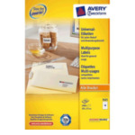 Zweckform 3425 Avery Universele Etiketten, wit, 105,0 x 57,0 mm, permanent klevend 4004182034255