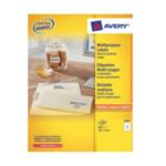Zweckform 3427-200 Avery Universele Etiketten, wit, 105,0 x 74,0 mm, permanent klevend 4004182249598