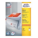 Avery 3669 Universele Etiketten, wit, 70,0 x 50,8 mm, permanent klevend 4004182036693