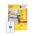 Avery L7162-250 L7162-250 Wit zelfklevendevend label adreslabels 5014702810275