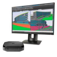HP Z2 mini Intel i7-6700 Small Desktop Zwart Workstation + Z24n Z24n Narrow Bezel IPS-monitor (B1CC42ETZ24)