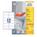 Zweckform 3424-200 Avery 3424-200 Rechthoek Permanent Wit 2400 stuksuk(s) etiket 4004182249581