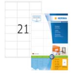 Herma 4451 Etiketten wit 70x42 Premium A4 2100 st 4008705044516