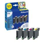 Pelikan 354068 P06 inktcartridge 4 stuk(s) Zwart, Cyaan, Magenta, Geel 4018474354068