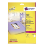 Avery L776740 Glanzende Etiketten, wit, 210,0 x 297,0 mm, permanent klevend 3266550017838