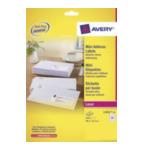 Avery L7651-25 L7651-25 Wit printeretiket 3266550263013