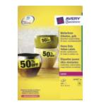 Avery L610320 L6103-20 Rechthoek Permanent Geel 960 stuksuk(s) etiket 4004182061039
