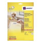 Avery L4732REV-25 L4732REV-25 Wit printeretiket 4004182047323