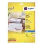 Avery J8651-10 White Mini Label - Inkjet - J8651 Wit 8711181000087