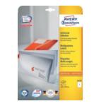 Zweckform 6119 Avery Laser & Ink Jet Labels 210 x 297mm Wit 4004182061190